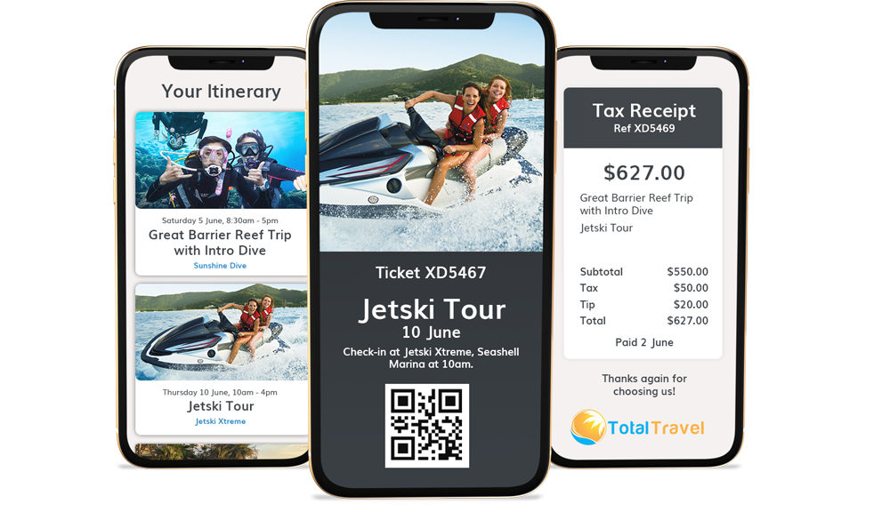 Hero digital Itineraries, Tickets & Receipts